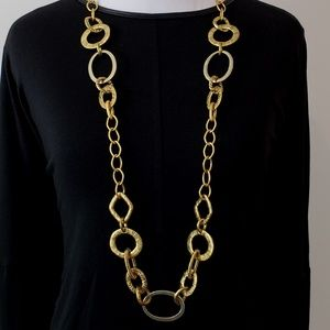 Chico's Necklace Long Large Link